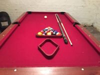 Pre-loved Poole Table Long In Very Nice Condition with Balls / Cues included
