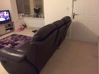 3 Seater Recliner Sofa and Chair Recliner Brown