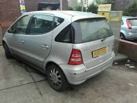 Mercedes a class, A170 cdi, auto, damage, salvage, spares or repairs, starts and drives, MOT,