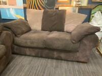 Cord brown two piece sofa set