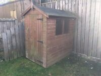 1 x Excellent Wooden Garden Shed