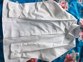 Two new girls white school blouses standard collar age 12