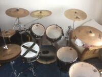 Tama superstar hyperdrive kit + cymbals + hardcases