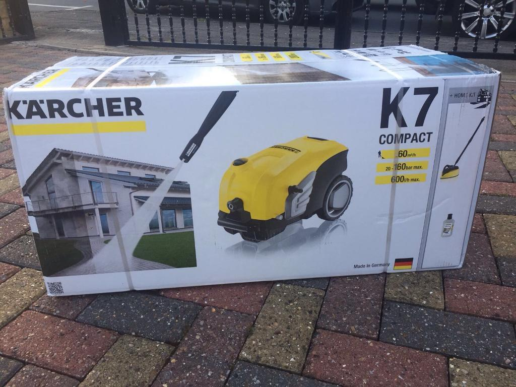 brand new boxed karcher k7 compact 160 bar pressure washer home kit car jet power washer in. Black Bedroom Furniture Sets. Home Design Ideas