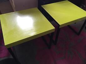 Pair of habitat side tables