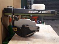 DeWalt DW125 Power Shop Radial Arm Saw - Used, Good Condition
