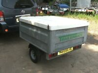 FULLY GALVANISED STEEL BOX TRAILER WITH FIBREGLASS LID.....