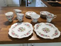 Antique Royal Stafford Rochester bone China tea set