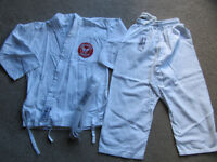 White Karate suit 0/130 size- used with Sama badge- £5