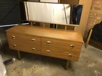Dressing table with detachable mirror & light