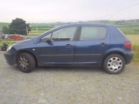 BREAKING 2001 PEUGEOT 307 1.4 PETROL - NO TEXTS PLEASE - NEWRY / ARMAGH
