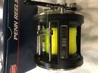 Penn 330 GTi Graphite Level -Wind Multiplier reel - used once