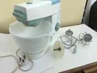 Retro Kenwood Chef food mixer glass bowl 3 attachments