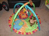 Bright Stars jungle play mat plus extra toys