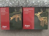 Christmas-Nodding or Grazing Reindeer RRP £40each