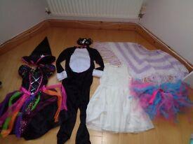 Girls Fancy Dress Bundle Age 7-8