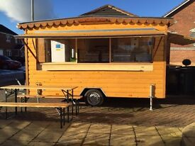 Mobile Catering Trailer Wood Clad, Steel Framed 12 Months Old Pristine Condition