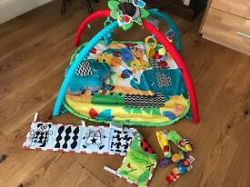 Baby playmat, cot bumper and rattle toys