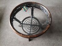 Round Glass Topped Coffee Table