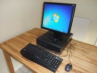PC Computer System complete with Monitor, Keyboard, Mouse. Wi-Fi Internet. Like New