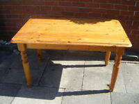 PINE TABLE kitchen living room etc worktable