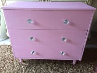 Pink Shabby Chic Chest of Draws