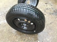 Vauxhall combo spare wheel and tyre.