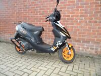 2010 Longjia Digita 50RR 2stroke moped in excellent condition 12 months MOT top speed 55mph