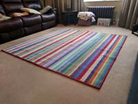 Large Rainbow Stripe Square Rug From IKEA