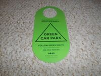 CAR PARK BADGE FOR THIS YEARS CHELTENHAM FESTIVAL GOLD CUP RACE DAY