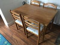 Dining table 4 four chairs
