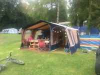 CABANON TRAILER TENT 2004 with bike rack and accessories