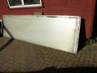 ROOFING POLYCARBONATE RECLAIMED SHEETS 4 X 10ft X 34INS X 3/4 THICK. NO HOLES.
