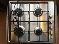 Stainless steel gas hob by Howdens brand 'Lamona' - NEVER USED