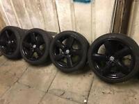 "Vw Audi alloys wheels genuine 18"" 5wheels"