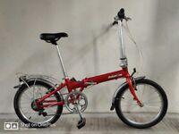"SERVICED (4578) 20"" DAHON VITESSE Aluminium FOLDING BIKE FOLDABLE FOLD-UP BICYCLE Height: 148-190 cm"