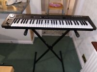 rolands-Synthesizer-Keyboard alpha juno2 in very good condition with stand