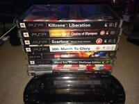 PSP with games