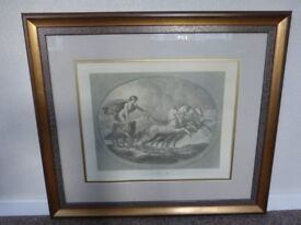 TWO FRAMED LITHOGRAPHS