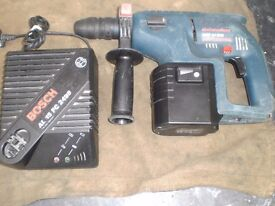 BOSCH GBH24VFR 24v SDS CORDLESS HAMMER DRILL,BATTERY & CHARGER