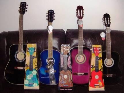 New Acoustic Guitars & Ukuleles - Xmas Presents.