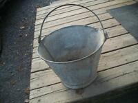 very  old  milk  pail  for  decor