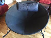 Large ikea black rocking chair
