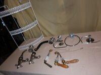 House Clearance. Miscellaneous bathroom plumbing items. Door handles etc