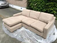 FREE! Beautiful sofa with chaise layout.