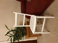Beautiful Vintage Rattan White Chair