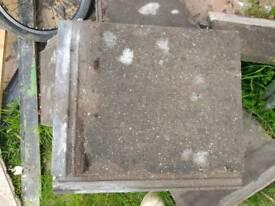 Concrete pan roof tiles