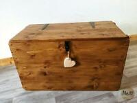 Handmade wooden chest/ trunk/coffee table/ ottoman/ storage box