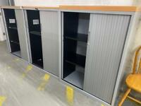 Mid Size Tambours With Shelves - Many Available