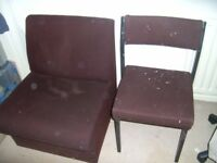 FREE FREE FREE near Barnsley - Office type upholstered Chairs Might deliver
